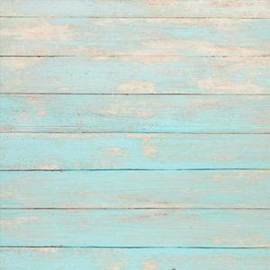 Blaue Bretterwand